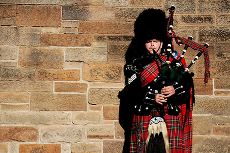 Bag Pipes Edinburgh Scotland