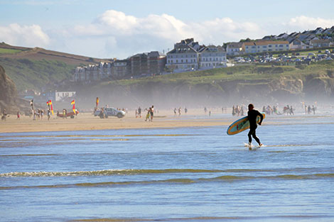 Newquay surfing beaches