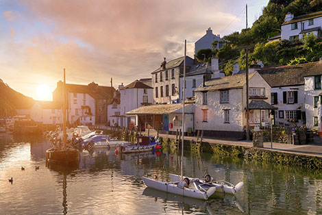 Polperro Fishing Village in Cornwall